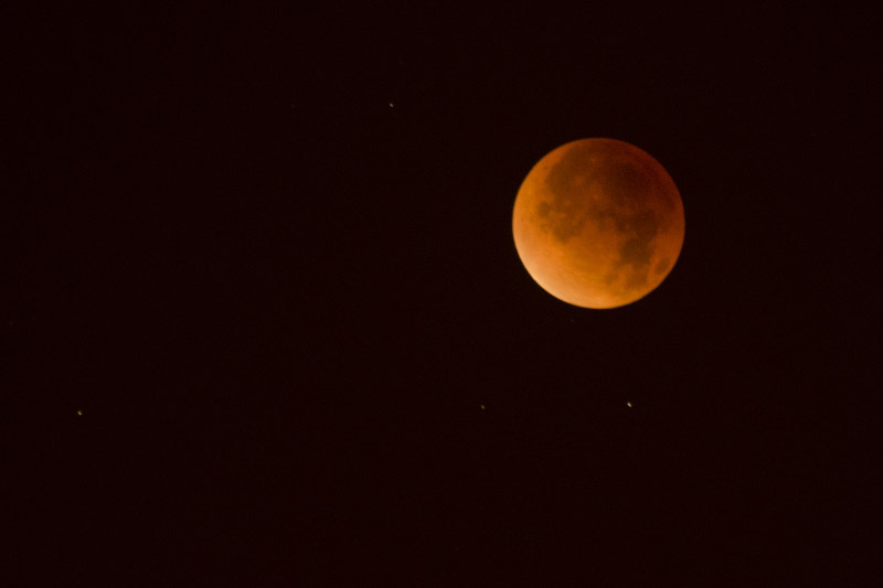 Getting lucky with the last lunar eclipse for the next three years