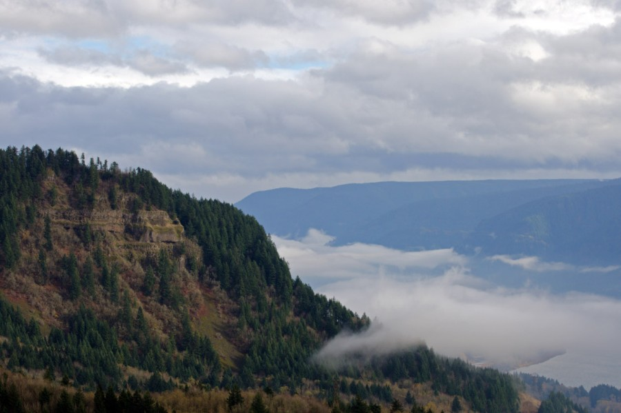 Looking up the Columbia River Gorge
