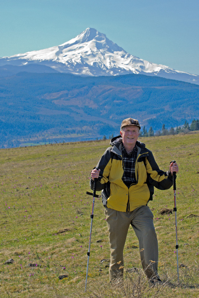 Your humble scribe with Mt. Hood in background