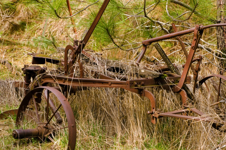 Old farm equipment at Trail's end