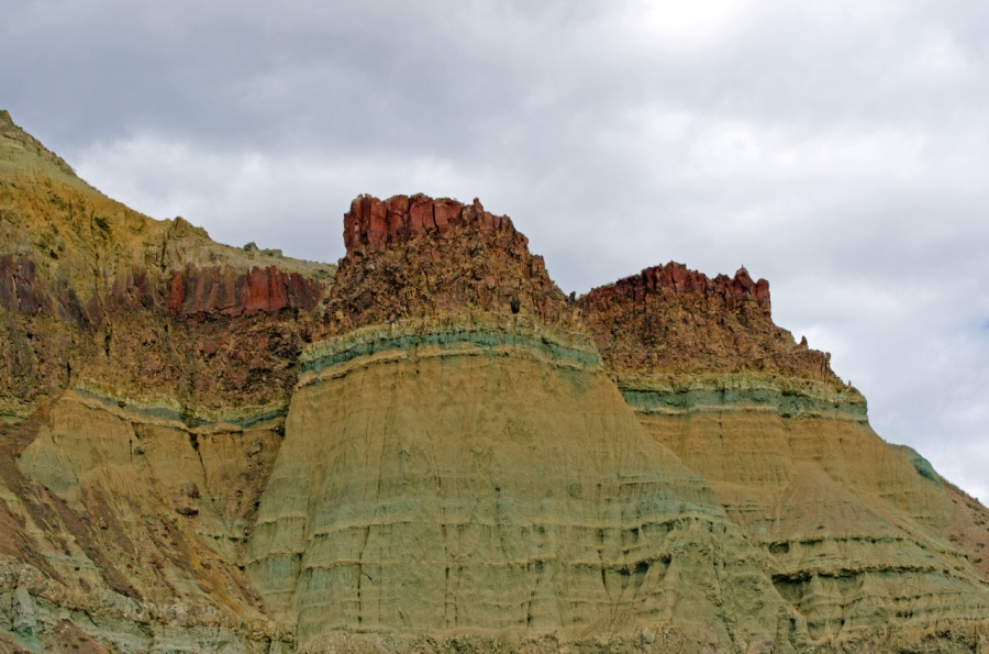 View from Historical Ranch of bluish-green clay of the Blue Basin area
