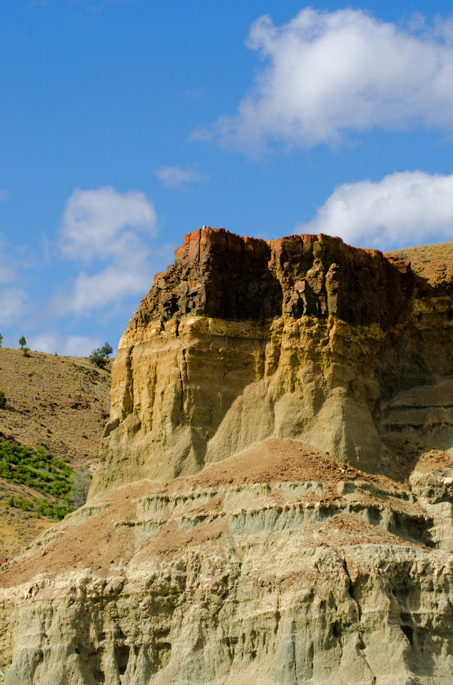 Brown Basalt topping the cliffs
