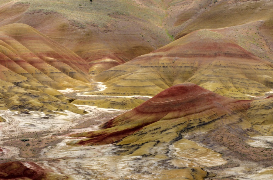Looking down to the Painted Hills