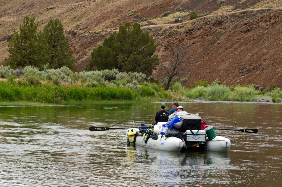 Rafters on the John Day River