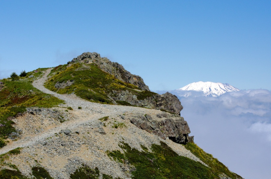 Mt. St. Helens behind the summit of Silver Star Mountain