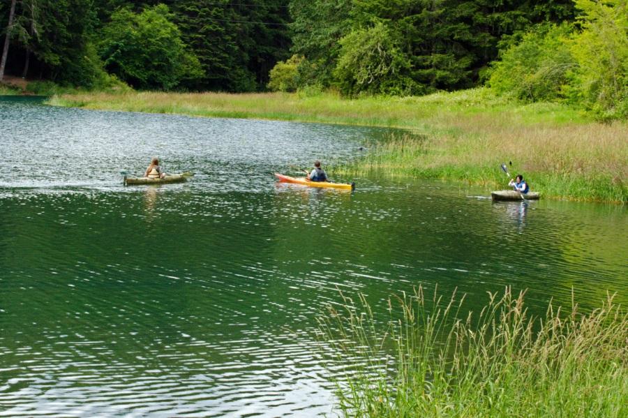 Kayakers on the Lake
