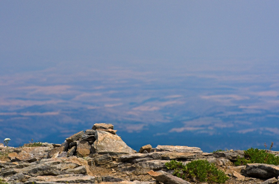 A hazy look over eastern Oregon from the summit of Lookout Mountain