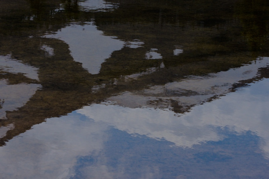 Reflections in an alpine pond