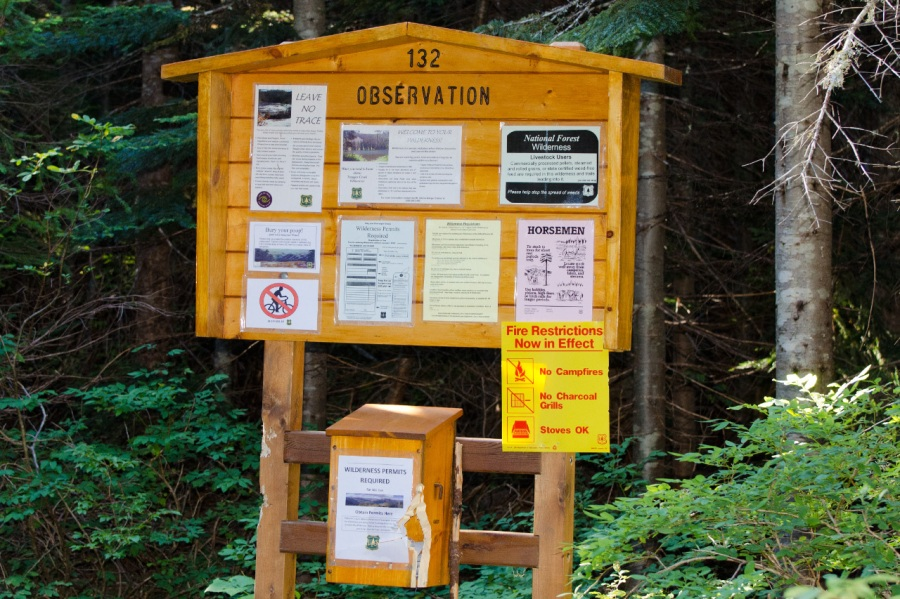 Wilderness sign-in