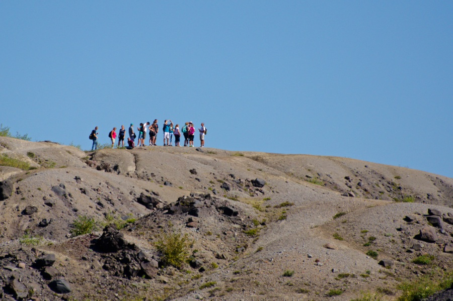 Hikers on the Boundary Trail