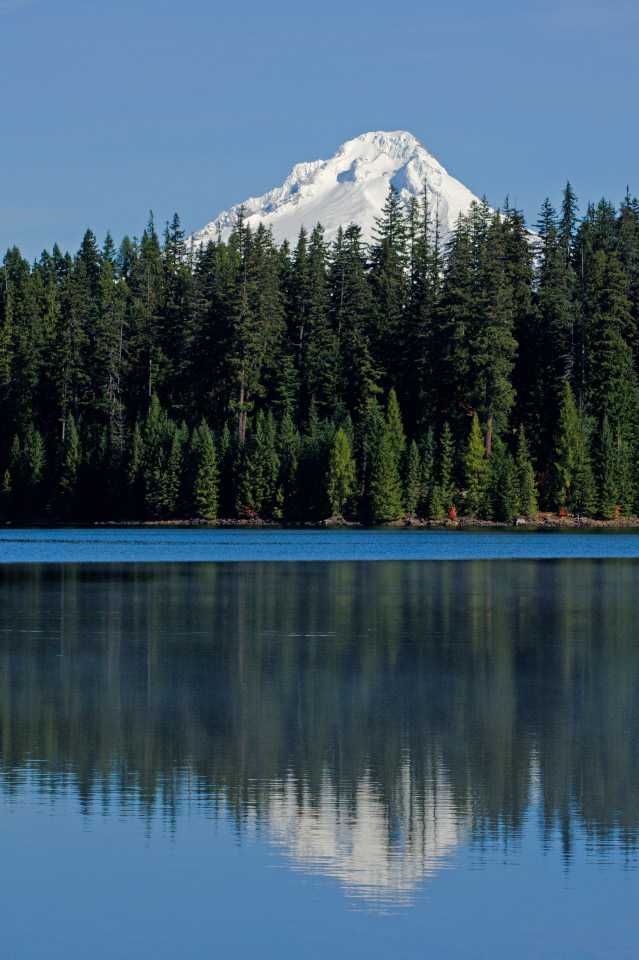 Mt. Hood reflected in Timothy Lake