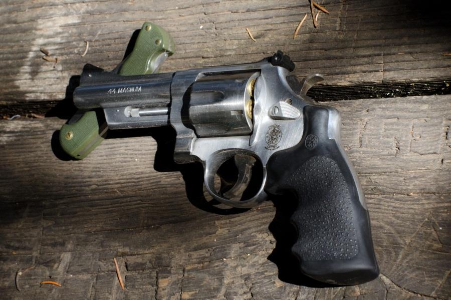 S&W Mountain Gun and a Buck folder (good companions for a solo wilderness hiker)