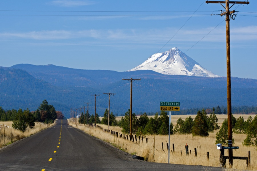 Almost a straight shot to Lookout Mountain, and on to Mt. Hood