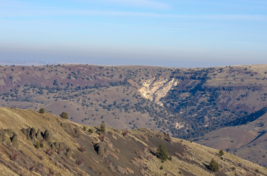 Upper ridges on both sides of the Butte Creek Valley (all part of the Wilson Ranch)