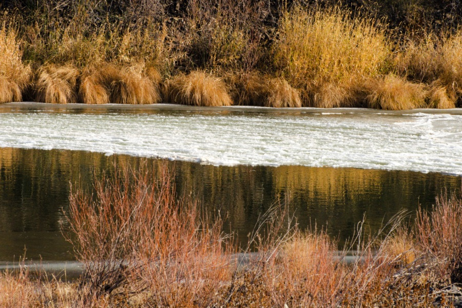 Some ice on the John Day River