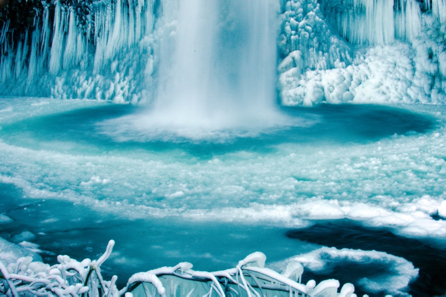 The Beauty of Icy Waterfalls