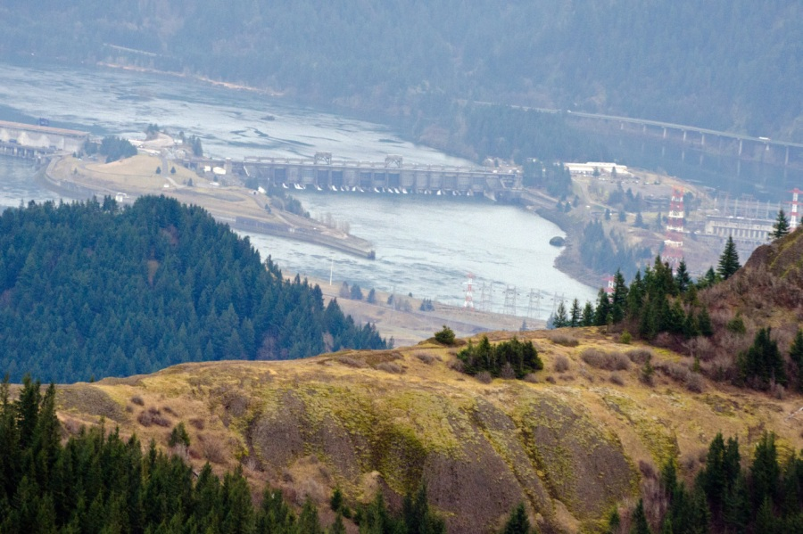 Looking down to Bonneville Dam