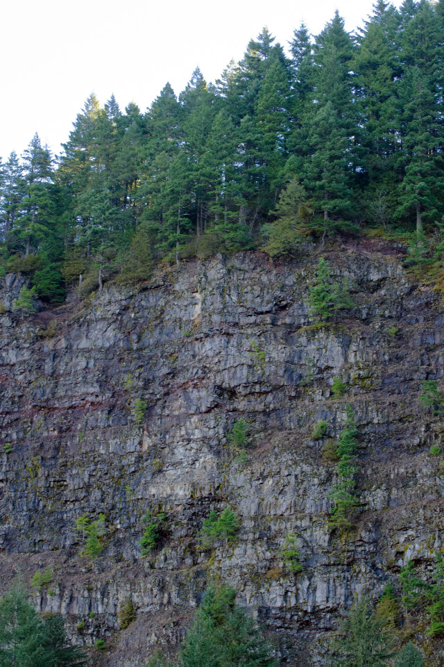 Each layer in the walls of the cliffs represent millions of years