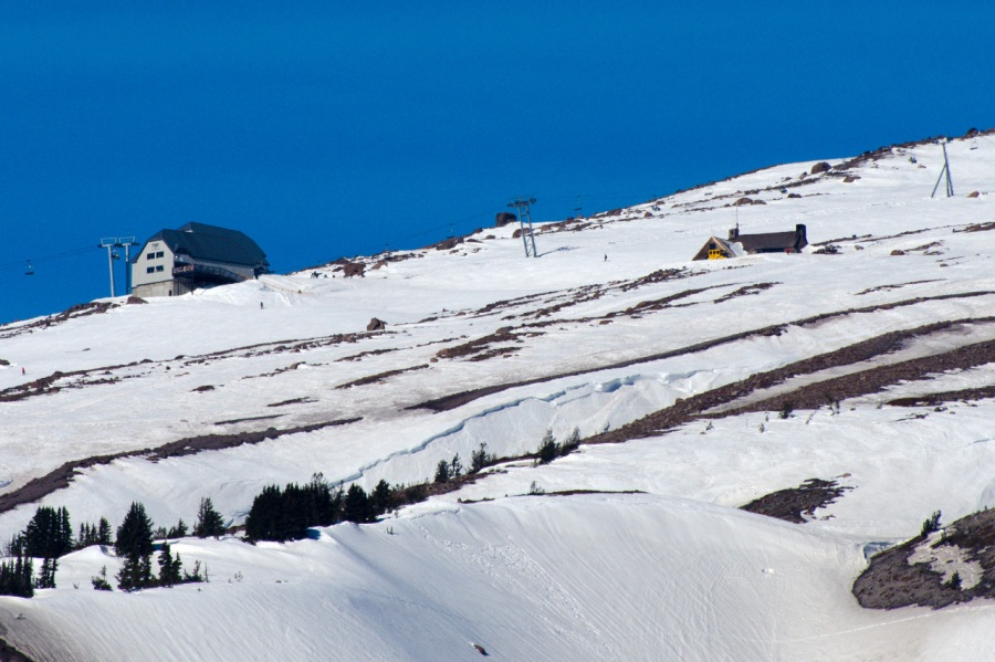 Ski area above Timberline Lodge on Mt. Hood
