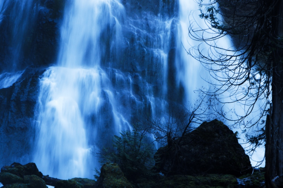 Triple-tiered, 200-foot Spectacular Waterfall