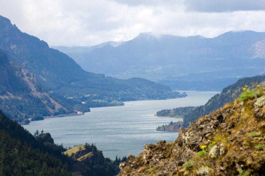 Looking down on the Columbia River