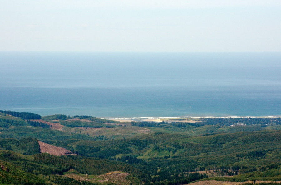 The Pacific Ocean from the summit area