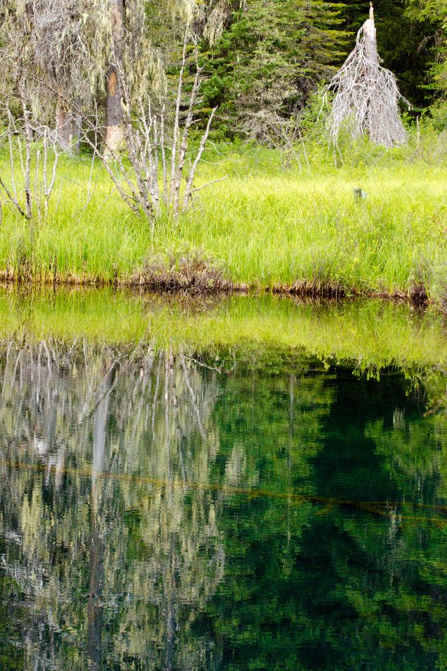 Deep-blue Little Crater Lake