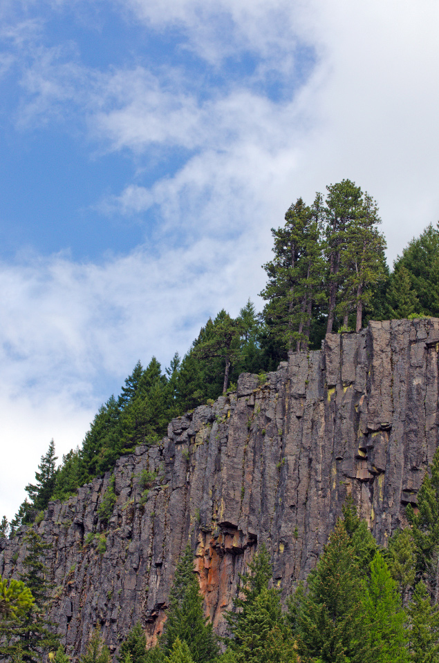 Columnar Basalt above the East Fork of the Hood River