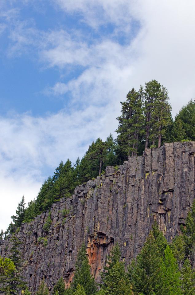 Columnar Basalt above the East Fork of the Hood River