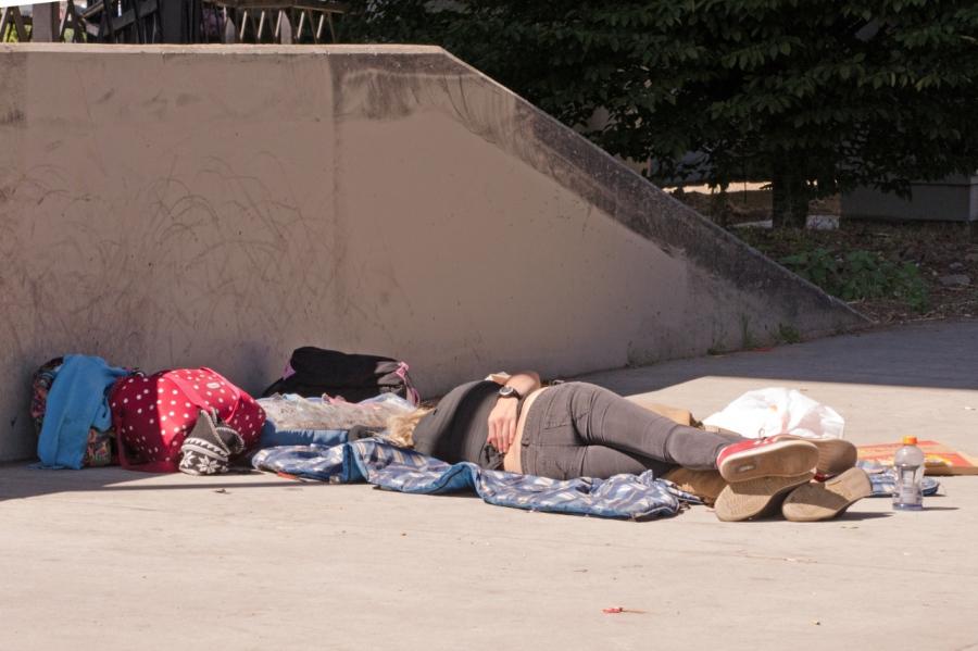 Sidewalk squatters