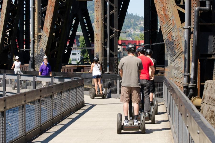 Walkway underneath the Steel Bridge