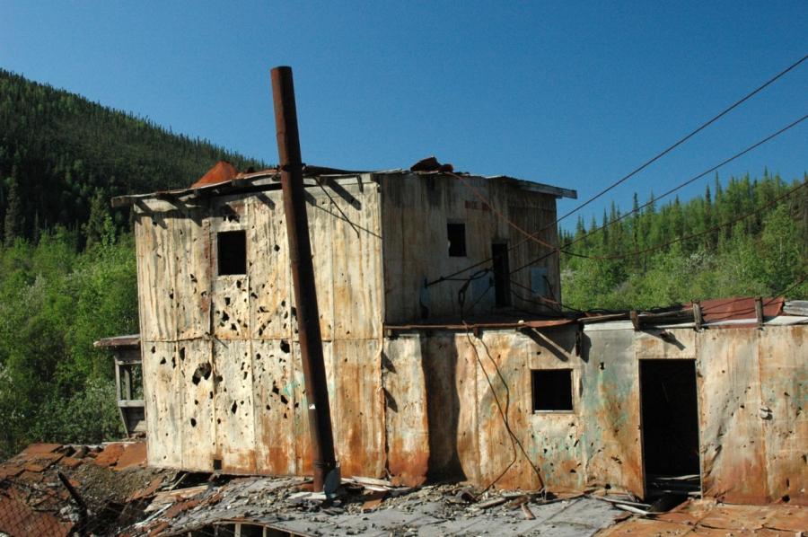 Long-abandoned mining operation