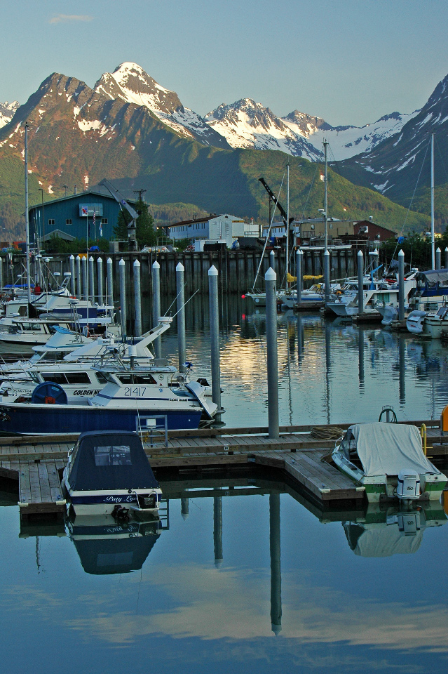 Scenic marina at Valdez