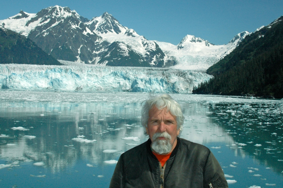 World's Greatest Tour Guide in front of one of the major glaciers