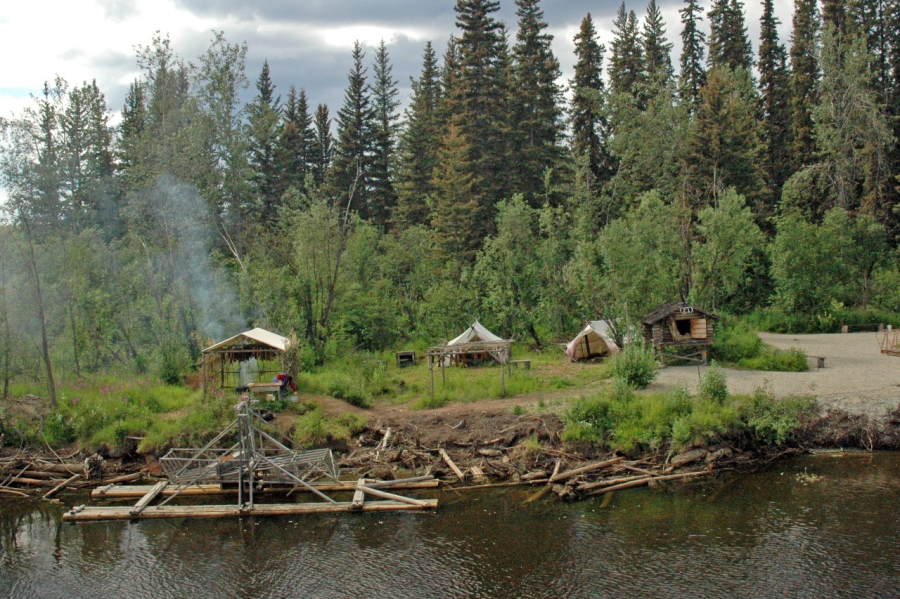 Tribal salmon operation on the Chena River