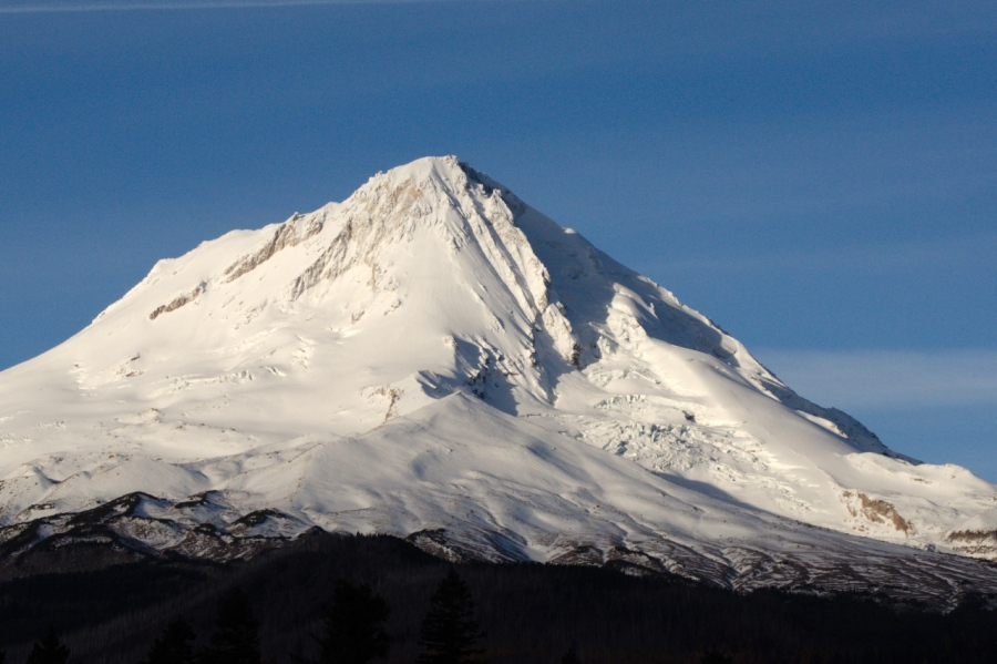 Early morning light on a calm Mt. Hood