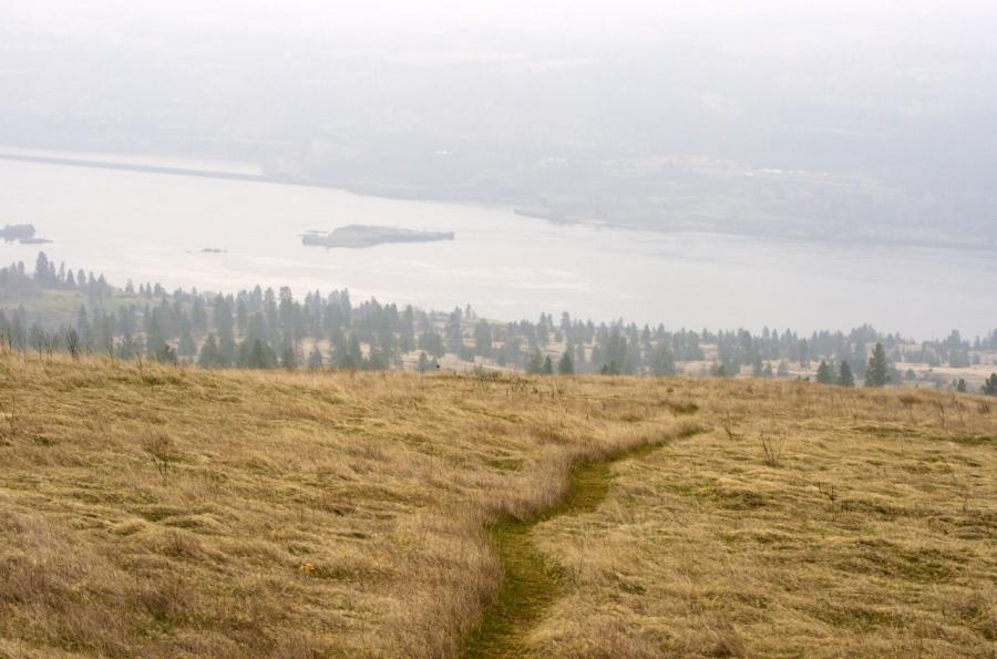 Columbia River far below