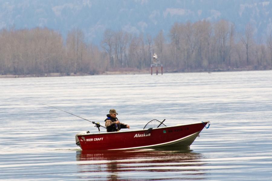 A Spring Chinook Salmon fisherman