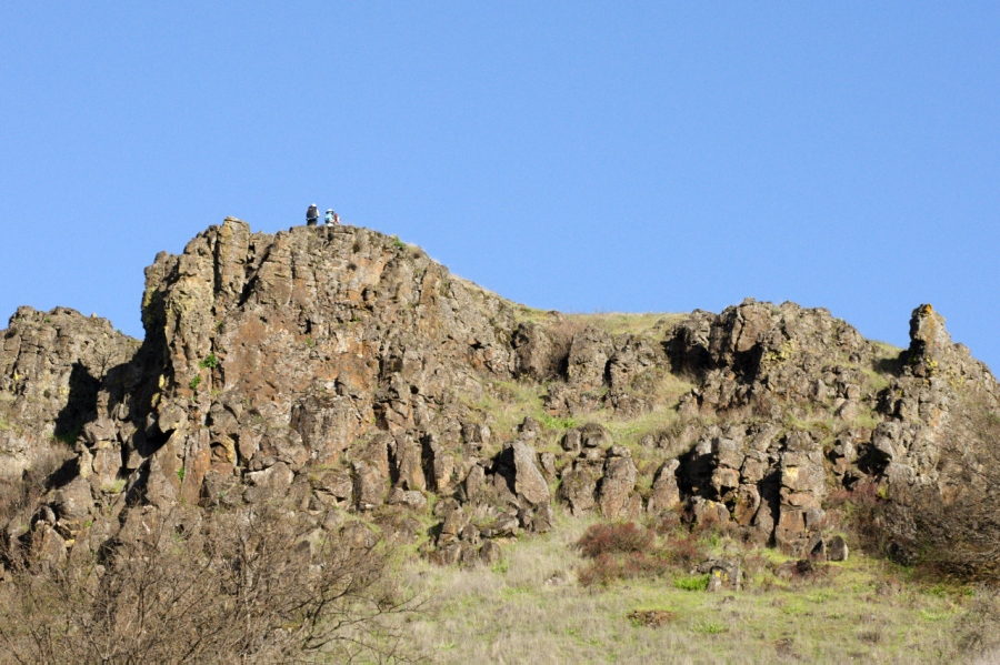 Hikers on top of the cliffs