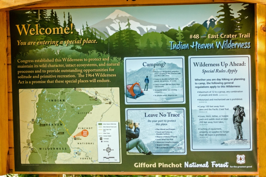Trailhead and wilderness sign-in