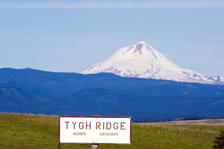 Mt. Hood from ridge above Tygh Valley