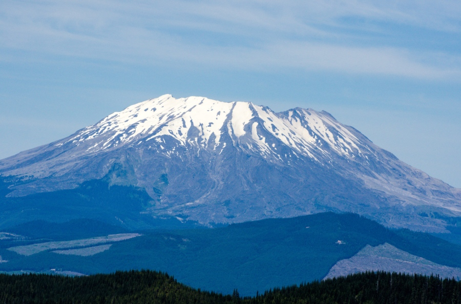 Close-up view of Mt. St. Helens