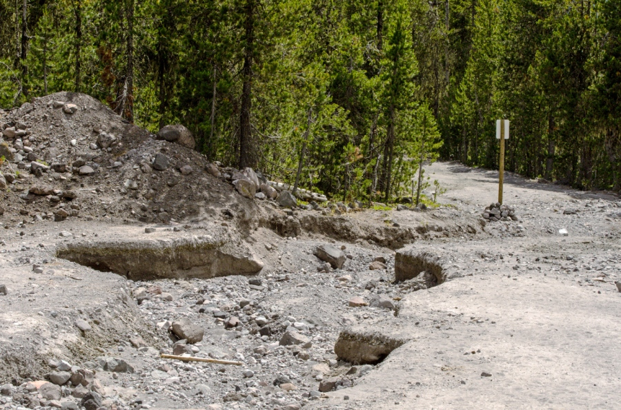 It used to be the parking area for the Blue Lake Trailhead