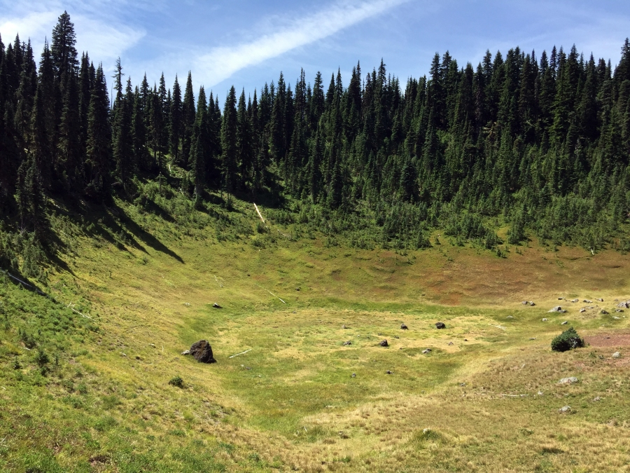 A Journey to the Hidden Crater of a WildernessVolcano