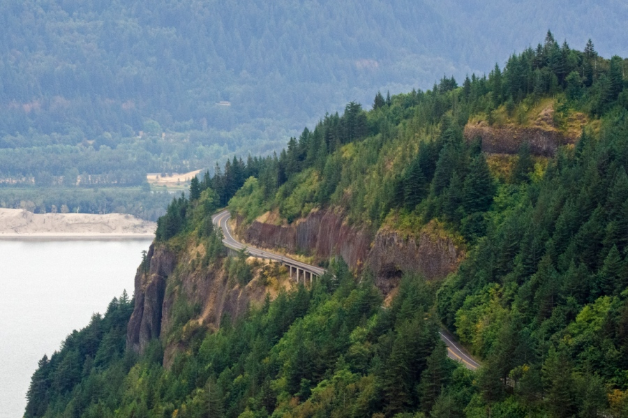 Looking down on Cape Horn Bridge
