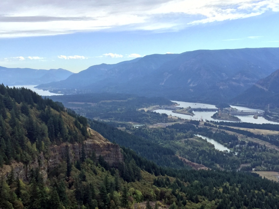 A long look up the Columbia River Gorge