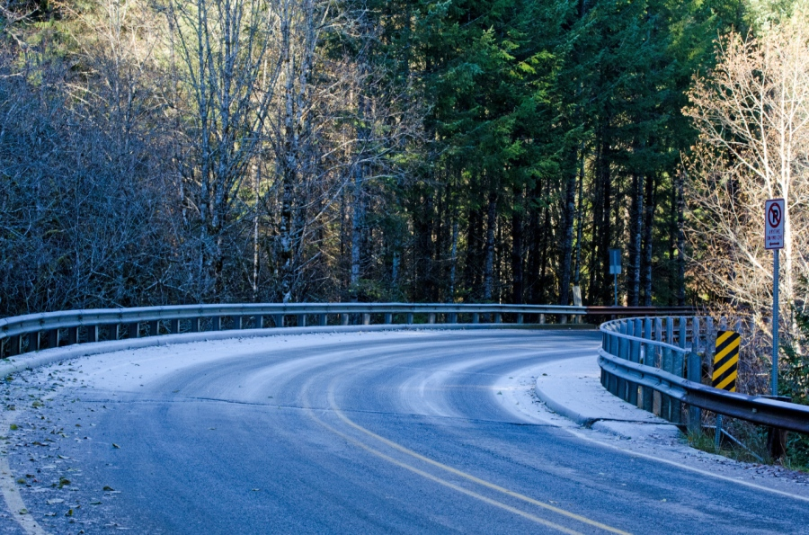 Frosty stretch of road