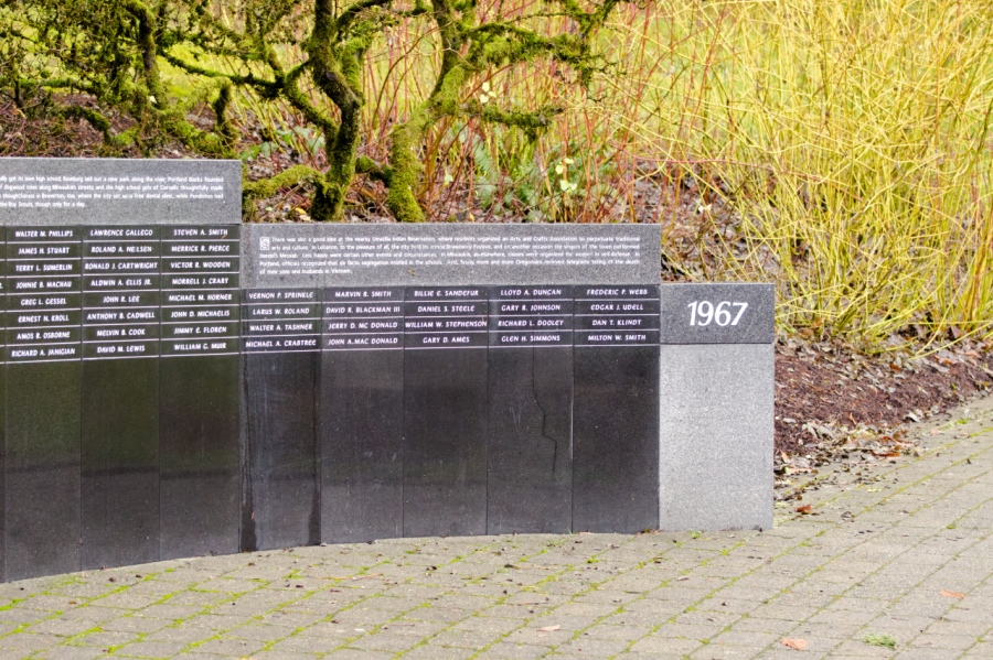 One of the viewing walls at the Viet Nam Memorial