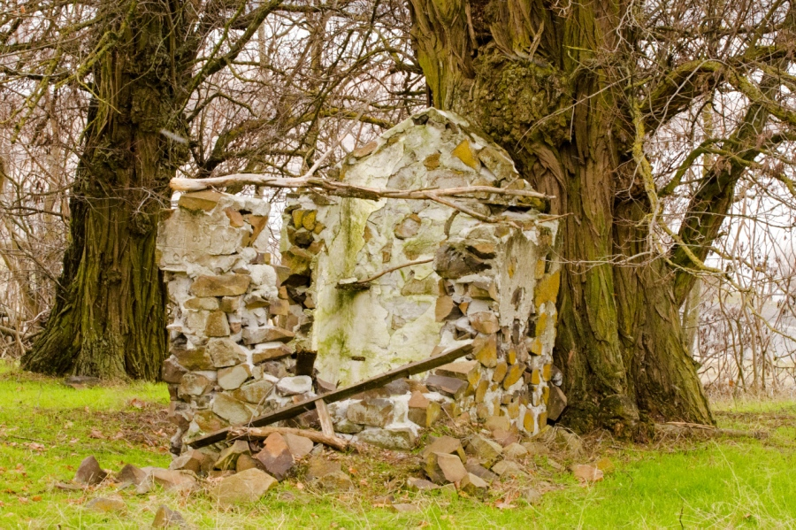 Old structure on the Balfour-Klickitat property (a well-fortified outhouse?)