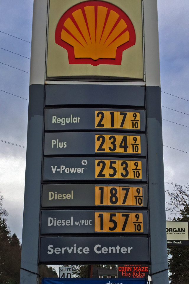 $1.87/gal. for my diesel SUV - - - I must be dreaming!